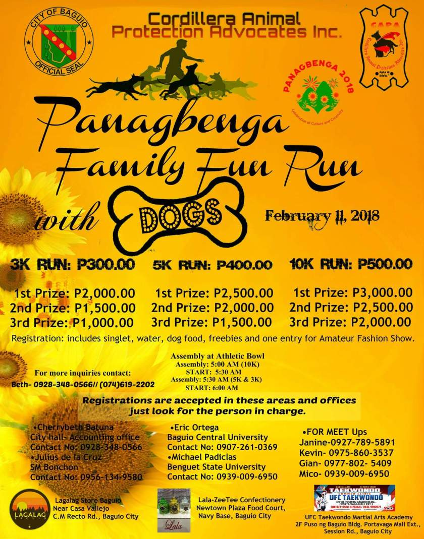 2018 Panagbenga Family Fun Run with Dogs